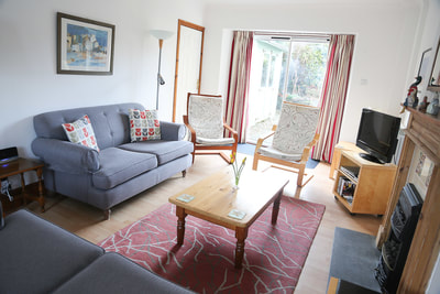 Living room, Ty Dafydd, Newport Pembs Holiday Cottage